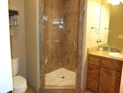 Lincoln City Beach House - Main Level - Bathroom 2 - Glass Shower Door